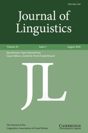 Journal of Linguistics Volume 56 - Issue 3 -  Aspect beyond time