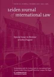 Leiden Journal of International Law Volume 20 - Issue 4 -
