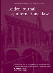 Leiden Journal of International Law Volume 21 - Issue 2 -