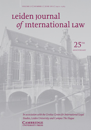 Leiden Journal of International Law Volume 25 - Issue 2 -