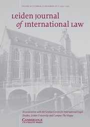 Leiden Journal of International Law Volume 26 - Issue 4 -