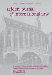 Leiden Journal of International Law Volume 28 - Issue 3 -