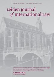 Leiden Journal of International Law Volume 28 - Issue 4 -