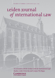 Leiden Journal of International Law Volume 29 - Issue 2 -
