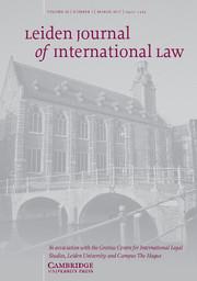 Leiden Journal of International Law Volume 30 - Issue 1 -