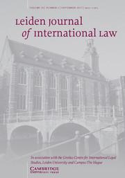 Leiden Journal of International Law Volume 30 - Issue 3 -