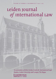 Leiden Journal of International Law Volume 30 - Issue 4 -