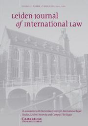 Leiden Journal of International Law Volume 31 - Issue 1 -