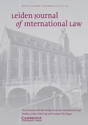 Leiden Journal of International Law Volume 31 - Issue 3 -