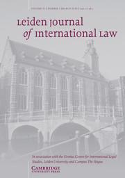 Leiden Journal of International Law Volume 33 - Issue 1 -
