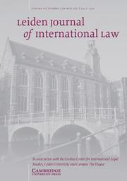 Leiden Journal of International Law Volume 34 - Issue 1 -