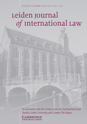 Leiden Journal of International Law Volume 34 - Issue 2 -