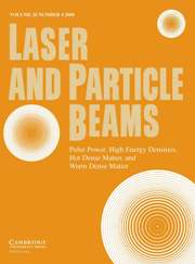Laser and Particle Beams Volume 26 - Issue 4 -