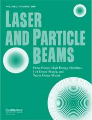 Laser and Particle Beams Volume 27 - Issue 1 -