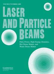 Laser and Particle Beams Volume 27 - Issue 2 -