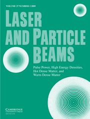 Laser and Particle Beams Volume 27 - Issue 3 -