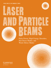 Laser and Particle Beams Volume 32 - Issue 2 -