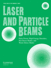 Laser and Particle Beams Volume 33 - Issue 1 -