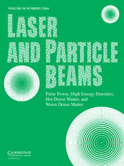 Laser and Particle Beams Volume 34 - Issue 2 -