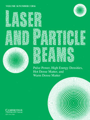 Laser and Particle Beams Volume 34 - Issue 3 -