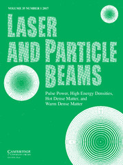 Laser and Particle Beams Volume 35 - Issue 1 -
