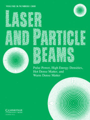 Laser and Particle Beams Volume 36 - Issue 1 -