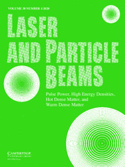 Laser and Particle Beams Volume 38 - Issue 4 -
