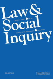 Law & Social Inquiry Volume 44 - Issue 2 -
