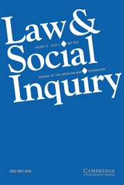 Law & Social Inquiry Volume 45 - Issue 2 -