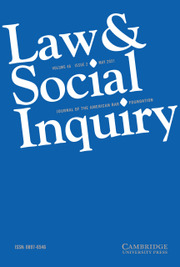 Law & Social Inquiry Volume 46 - Issue 2 -