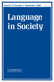 Language in Society Volume 37 - Issue 4 -
