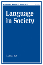 Language in Society Volume 40 - Issue 3 -