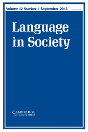 Language in Society Volume 42 - Issue 4 -
