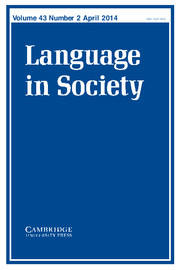 Language in Society Volume 43 - Issue 2 -
