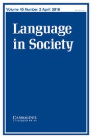 Language in Society Volume 45 - Issue 2 -