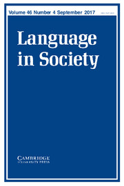 Language in Society Volume 46 - Issue 4 -