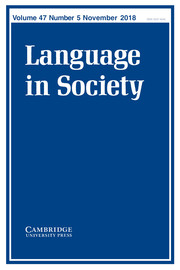 Language in Society Volume 47 - Issue 5 -