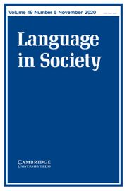 Language in Society Volume 49 - Issue 5 -