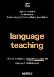 Language Teaching Volume 38 - Issue 2 -
