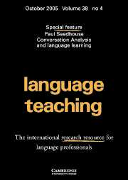 Language Teaching Volume 38 - Issue 4 -