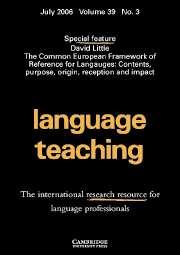Language Teaching: Volume 39 - Issue 3 | Cambridge Core