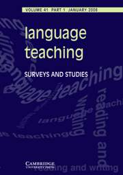 Language Teaching Volume 41 - Issue 1 -