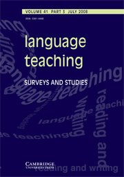 Language Teaching Volume 41 - Issue 3 -