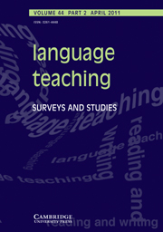 Language Teaching Volume 44 - Issue 2 -