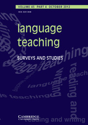 Language Teaching Volume 45 - Issue 4 -