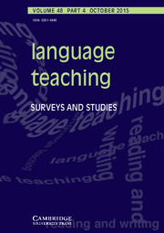 Language Teaching Volume 48 - Issue 4 -