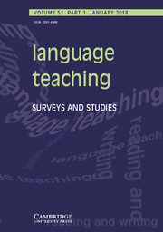 Language Teaching Volume 51 - Issue 1 -