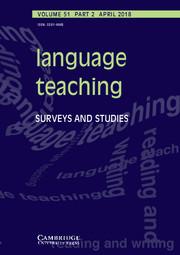 Language Teaching Volume 51 - Issue 2 -