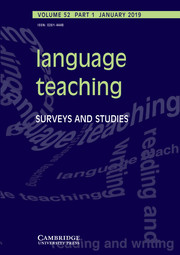 Language Teaching Volume 52 - Issue 1 -