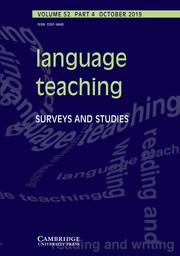 Language Teaching Volume 52 - Issue 4 -